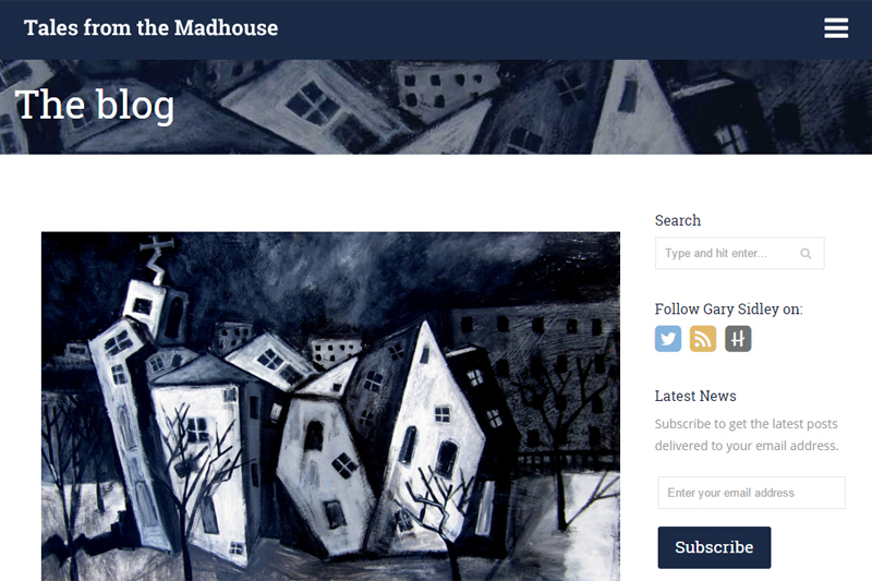 Tales From the Madhouse Website Design